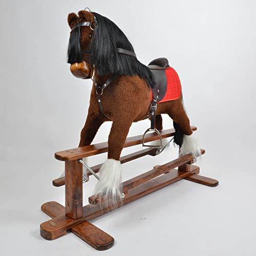 ALANEL Caballo balancín grande de muy alta calidad / Caballo balancín Rocking Horse Cheval à Bascule Cavallo a dondolo hecho a mano Magnum (Brown LUX)