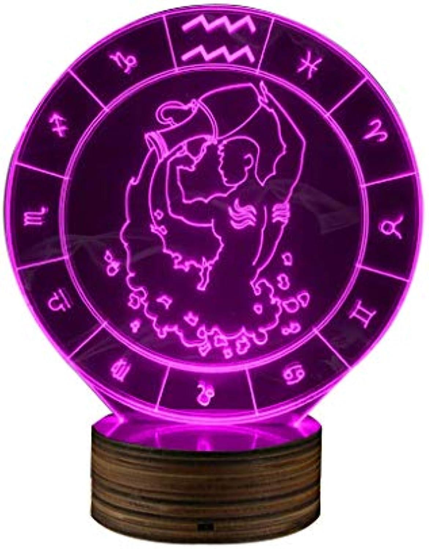 Stier Nachtlicht, 16 Farbwechsel 3D LED Optische Tuschung Tisch Schreibtischlampe Dekor Beleuchtung Geburtstagsgeschenk