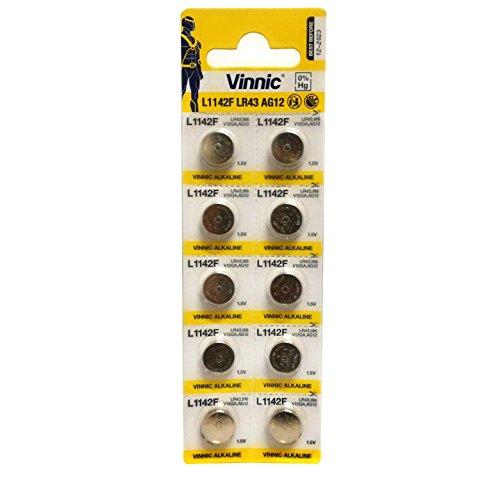 Starlet24 Vinnic Premium Knopfzellen Batterien 10x AG12, 186, 188, 386, 1142, SR43, LR43