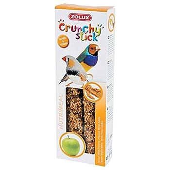 Zolux Crunchy Stick Friandise pour Oiseau Exotique Millet/Pomme 85 g