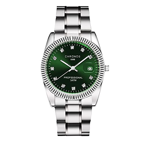 Reloj para hombre Reloj de cuarzo resistente al agua Pulsera de acero con diamantes Calendario / Pequeño proceso de galvanoplastia de tres pines Dial sin decoloración 36 mm