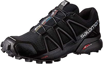 SALOMON Women's Speedcross 4 W Trail running shoes, Black Black Black Black Metallic, 6 UK