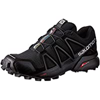 Salomon Speedcross 4 W, Zapatillas de Trail Running para Mujer, Negro (Black/Black/Black Metallic), 38 2/3 EU