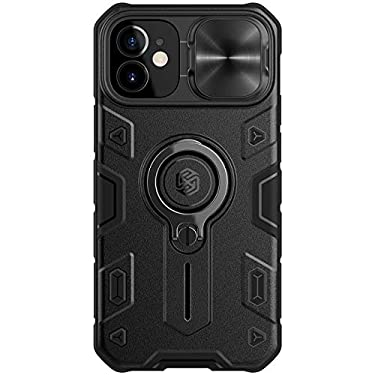 """Nillkin Case for Apple iPhone 12 Mini (5.4"""" Inch) CamShield Armor Military Grade Camera Close & Open Double Layered Protection TPU + PC Finish with Kickstand Black"""