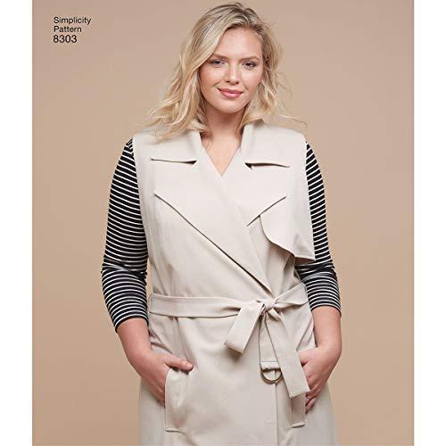 Eenvoud patroon 8303 GG (26W-28W-30W-32W) Womens gebreide tops, jas of vest en broek, papier wit, 22 x 15 x 1 cm