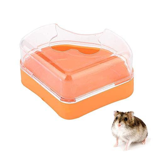 YGHH Hamster Badezimmer, Hamster Haustier Badezimmer, Hamsterbadewanne Aus Kunststoff, Plastik Dreieck Single Port Kleines Haustier Sand Badezimmer für Goldene Bären, Hamster (Zufällige Farbe)