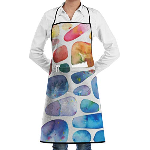 ZGPOJNDKI Delantal de chef con textura de mármol para hombre y mujer, con bolsillo grande, impermeable, ajustable, babero suave para mujer, para el hogar/cocina/cocina/hornear/jardinería/barbacoa