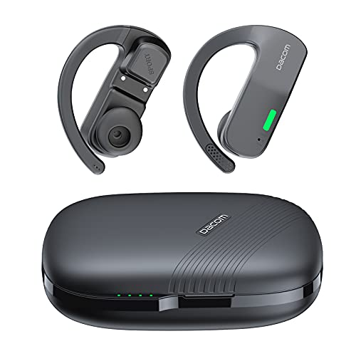 Bone Conduction Headphones,Open Ear Headset for Sports,Flash Lights for Night Running,Bluetooth Headphones True Wireless,Two Charging Modes,IP55 Waterproof,Built-in Mic & Touch Control