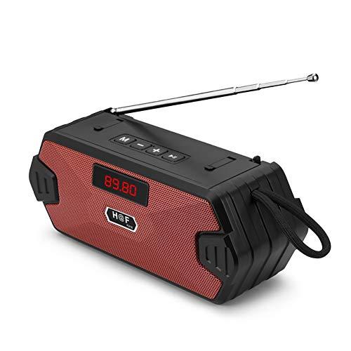 NEWMAN771Her Altavoz Bluetooth portátil inalámbrico Bass Column Altavoz exterior con radio FM...