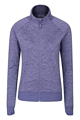Mountain Warehouse Defined Womens Midlayer Jacket -Full Zip Warm Coat Lilac 2