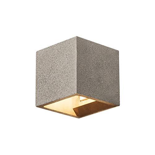 SLV Applique murale LED Solid Cube pour l'éclairage intérieur confortable des murs, couloirs, façades, escaliers, entrées | Applique murale Up and Down | Spot mural | LED G9, max. 25 W, D - A+