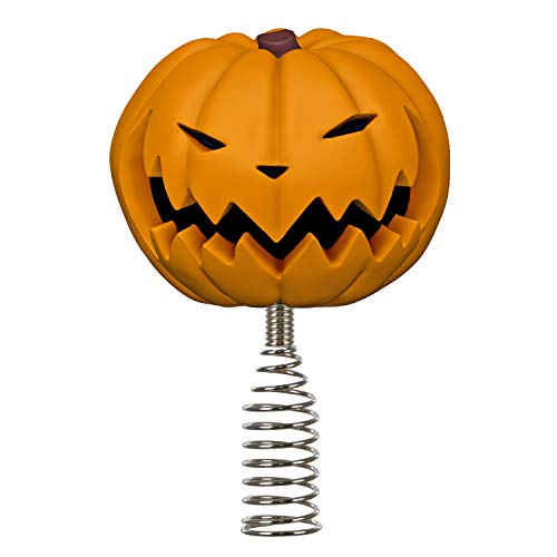 Hallmark Keepsake 2020, Disney Tim Burton's The Nightmare Before Christmas Pumpkin King Miniature Tree Topper, 4.14'