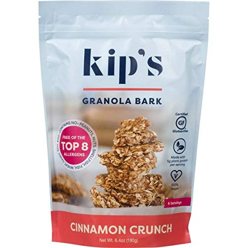 Kips Cinnamon Crunch Granola Bark, Free of Top 8 Allergens, Peanut Free, Nut Free, Gluten Free, Dairy Free, Soy Free, Egg Free, Vegan (2 pack)