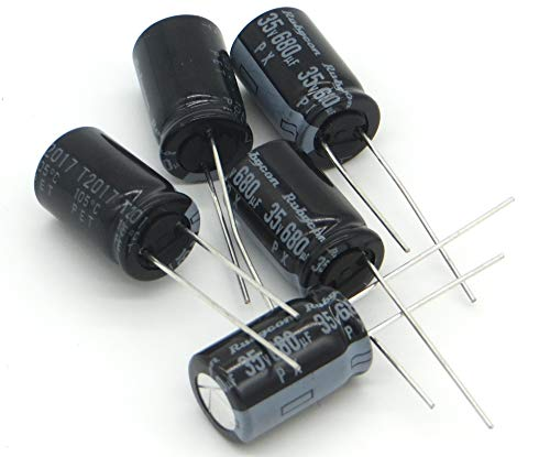 capacitors 680uF 35v Radial Lead Aluminum Electrolytic Capacitors For Repairing LCD TVs and Consumer Electronics - 5 pc.