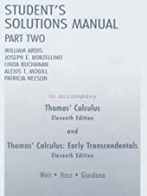 Student Solutions Manual Part 2 for Thomas' Calculus (Pt. 2)