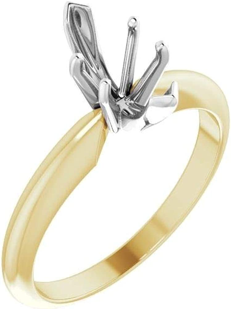 18kt Yellow Gold At the price Platinum 6-Prong Manufacturer OFFicial shop Marquise Heavy Solitai V-End