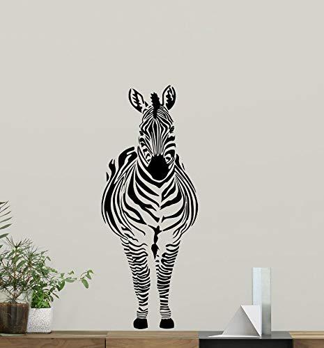myrockshirt Zebra Wandtattoo Decal Wild Animal Nursery Vinyl Aufkleber Africa Dekor Kunst Wandtattoo,Frei Farbwahl, Autoaufkleber,Lack,Scheibe, UV&Waschanlagenfest, Profi-Qualität