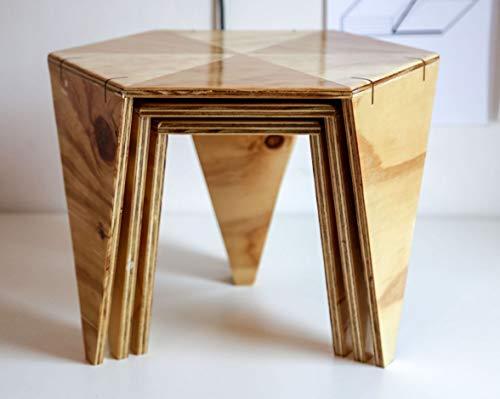 3er Set Beistelltische/Couchtische - Upcycling-Designerstücke von dem niederländischen Künstler van den Akerboom