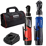 """ACDelco ARW1209-K92 G12 Series 12V Li-ion Cordless ¼"""" & 3/8"""" Ratchet Wrench Combo Tool Kit with 2 Batteries and Canvas Bag"""