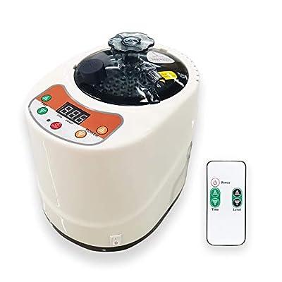 Smartmak 2 Liter Portable Sauna Steamer Pot, Generator for Steam Saunas, Home Spa Machine for Body Detox Weight Loss (US Plug)