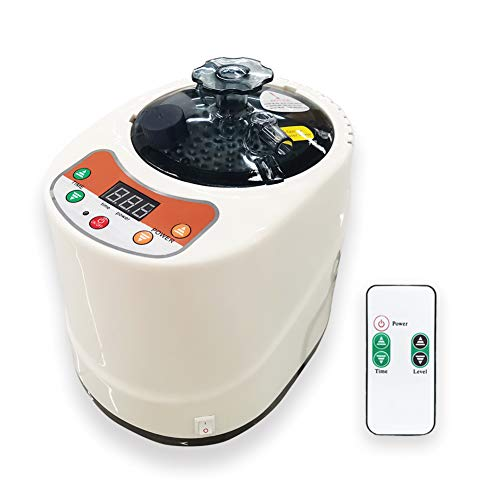Smartmak 2 Liter Portable Sauna Steamer Pot, Generator for Steam Saunas, Home Spa Machine for Body Detox Weight Loss (US Plug)