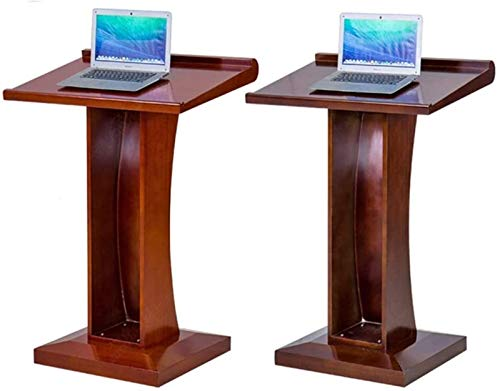 WNN-URG Machinery Parts Lectern Multimedia Podium Desk Solid Wood Conference Room Mobile Lecture Table for Company Campus WNN-URG (Color : Walnut, Size : One Size)