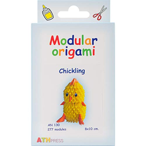 Origami Modular, Juego de 277 Piezas de Papel, almorta pequeña, Multicolor