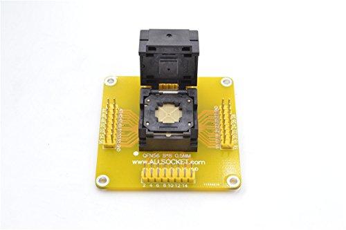ALLSOCKET QFN SOCKET PACKAGE QFN56 MLF56 WLCSP56 QFN56-DIP56 프로그래밍 어댑터 테스트 소켓 피치 0.5MM IC 크기 8X8MM QFN56(8X8)-0.5 IC550-0564-010-G NEW PCB 용접 헤드 핀(QFN56(8X8)-0.5)