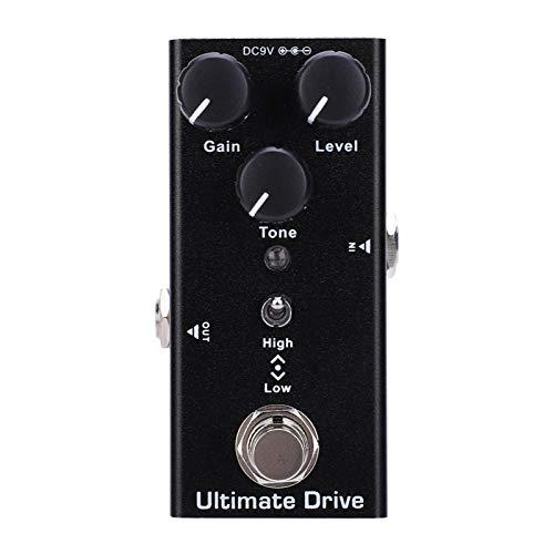 Pedal de efectos de guitarra Overdrive, Mini pedal de efectos de guitarra Over Drive Ultimate Drive, para piezas de guitarra Pedal de efecto True Bypass de guitarra eléctrica
