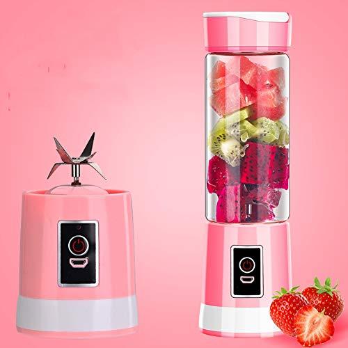 Draagbare mixer voor smoothie, borosilicaatglas, geschikt voor onderweg op kantoor, zoals in de keuken thuis. Een enkele knop is eenvoudig te bedienen. 500 ml.