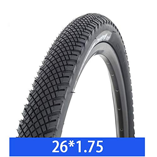 ZXWNB Bicycle Tire Mountain Bike Tire 26/27.51.75/1.95 Bicycle Wear-Resistant Tire,Black,B