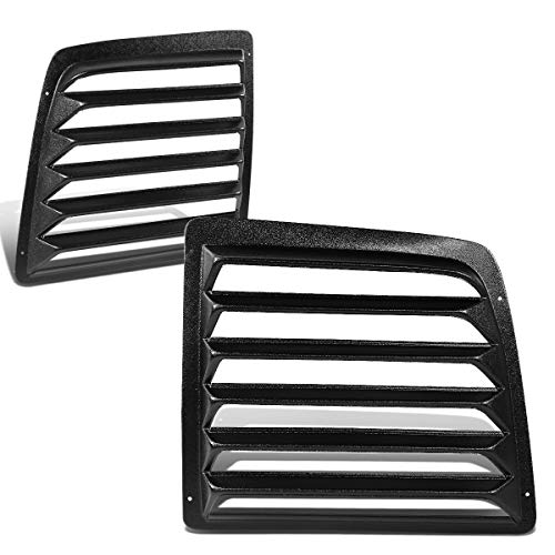 DNA MOTORING WINL-004 Pair Glossy Finish Rear Window Scoop Louvers Sun Shade Cover