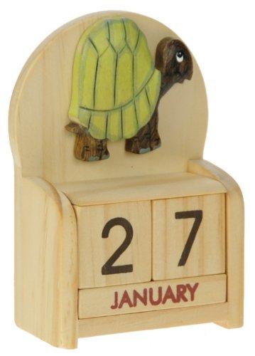 Tartaruga : legno calendario perpetuo: tradizionale a mano Idee Regalo di Natale: Dimensioni 10,5 x 7 x 3,5 centimetri: Compra un insolito e stravagante regalo di Natale alternativo per un calendario dell'Avvento: unico e nuovo regalino: Regali per tutte le età! regalo per sempre