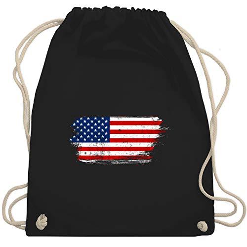 Städte & Länder Kind - USA Vintage - Unisize - Schwarz - bag usa - WM110 - Turnbeutel und Stoffbeutel aus Baumwolle