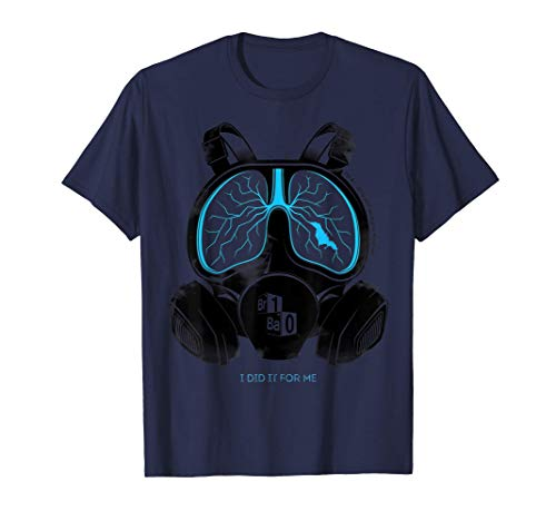 Breaking Bad Lung Mask Text Poster Maglietta