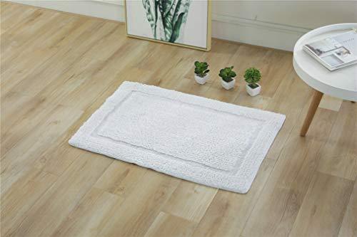 Alfombrillas antideslizantes de baño, alfombras de dormitorio de rápida absorción, alfombras de microfibra de algodón flocado, lavables a máquina, cuarto de baño, dormitorio o cocina (50 x 80 cm)