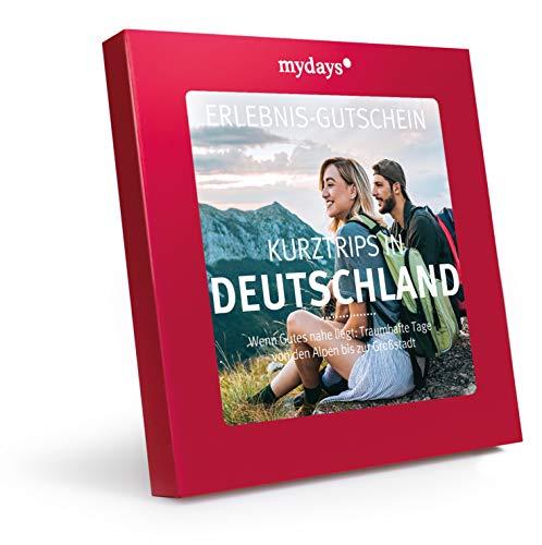 mydays Reise-Gutschein Kurztrips in Deutschland für 2 Personen, 2 Übernachtungen inklusive Frühstück, 100 Hotels, Geschenk für Paare in roter Geschenkbox, Weihnachten