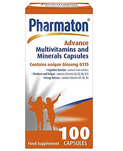 Pharmaton Advance Multivitamin and Mineral Capsules 100, Capsules