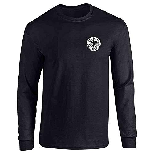Germany Soccer Futbol Retro Vintage National Team Black L Full Long Sleeve Tee T-Shirt