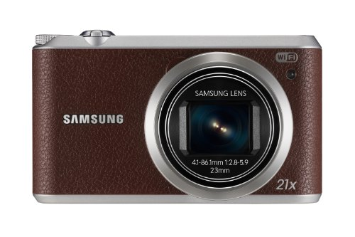 Samsung WB350F Smart-Digitalkamera (16 Megapixel, 21-fach opt. Zoom, 7,6 cm (3 Zoll) Touchscreen) braun