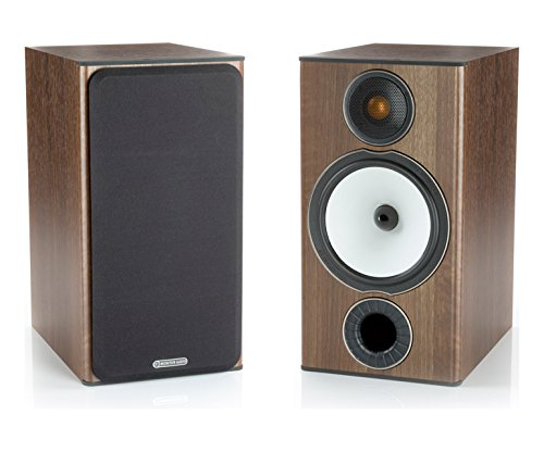 Monitor Audio - Bronze BX-2 - 2-Way Bookshelf Speakers - Pair - Walnut