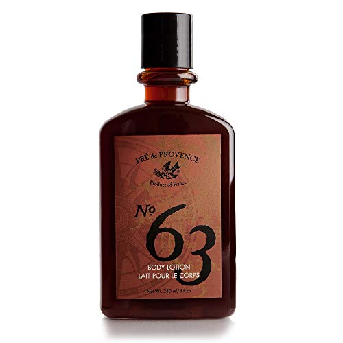 No. 63 Men's Lotion, Aromatic, Warm, Spicy Masculine Fragrance, Enriched With Natural & Repairing Shea Butter & Aloe Vera (8 fl oz)