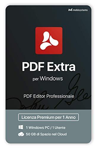 PDF Extra - PDF Editor Professionale – Modifica, Proteggi, Annota, Converti, Compila e Firma PDF - 1 Windows PC / 1 Utente / 1 anno di Licenza