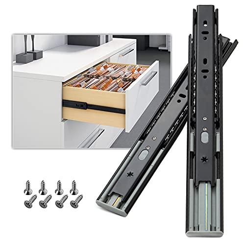 AOLISHENG Fermeture amortie glissières pour tiroirs 300 mm, Coulisse tiroir sortie totale capacité de charge robuste de 45 kg, 1 Paire (2 pièces)