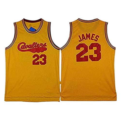 XSJY Jerseys De Baloncesto De Los Hombres - NBA Cleveland Cavaliers # 23 Lebron James Sking Sking Edition Malla Jersey Unisex Vestima Sin Mangas Top Sportwear,A,S:165~170cm/50~65kg