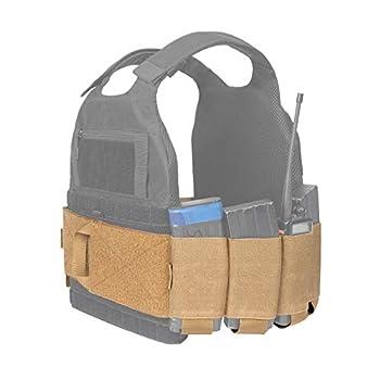 OneTigris Elastic Vest Cummerbund with Handy Grab Handles Low Profile Tactical Hook-and-Loop Cummerbund for AR Magazines Medical Supplies Radios  Coyote Brown