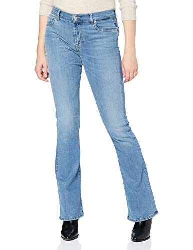 7 For All Mankind Bootcut Jeans, Azzurro, 42 Donna