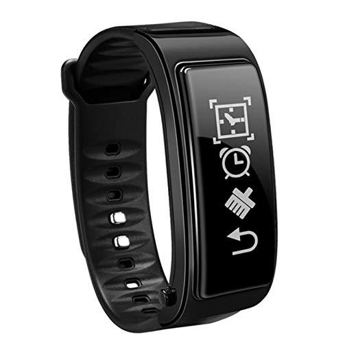 Wsaman Actividad Pulsera Reloj 0.96 Inch Inteligente Fitness Tracker Deportes Rastreador Banda Inteligente Smartwatch con Monitor de Ritmo Cardíaco para Android iOS Hombre y Mujer