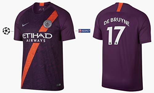 Manchester City Trikot Kinder 2018-2019 Third UCL - De Bruyne 17 (140)