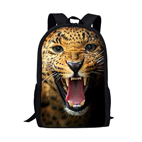 UFDIS Schulrucksack für Jungen und Mädchen, Tierdruck, für Kinder Mehrfarbig Gepard Einheitsgröße